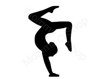 Gymnastics Instant Digital Download One Color File Cuttable **