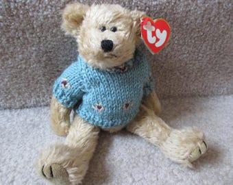 Vintage Skylar Ty Attic Treasures furry bear in sweater