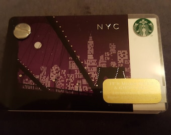 Starbucks Upcycled Refillable Giftcard Notebook - 2014 New York City