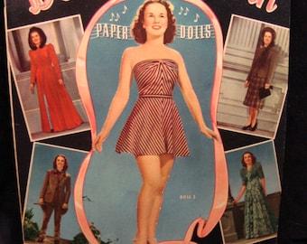 Original 1940 Deanna Durbin Paper Dolls