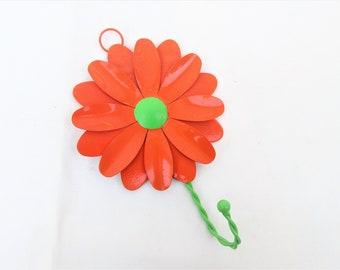 Vintage Metal Flower Wall Hook | Large Metal Flower | Wall Hanger | Towel Rack | Coat Hook | Hat Hook