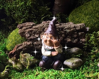 Fairy Garden Gnome, Miniature Garden Gnome, Mini Gnome, Small Gnome, Fairy  Gnome