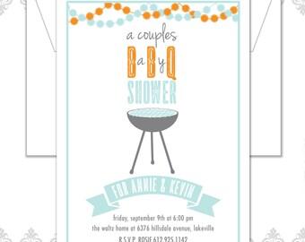 Modern BBQ Baby Shower, BBQ invite, Couples Shower Invitation, BBQ Shower Invite, Modern Shower Invite, Bbq baby shower, Couples baby shower