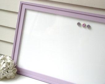 Magnetic Whiteboard Dry Erase Bulletin Board Wedding Sign with Handmade Lavender Purple Plum Frame 17.5 x 33 Restaurant Menu Homework Chart
