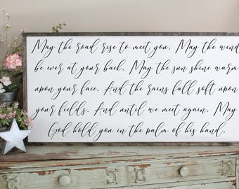 May The Road Rise To Meet You Living Room Wall Art, Farmhouse Style Wall  Decor