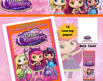 Little Charmers Coloring Book with Crayons
