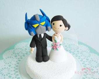 Custom Cake Topper - Optimus Prime & His Fiance