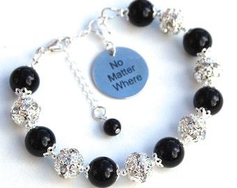 No matter where Bracelet, Distance Jewelry, Travel Gift, Long Distance Relationship, Deployment Gift, Distance Bracelet, Far Away Friend