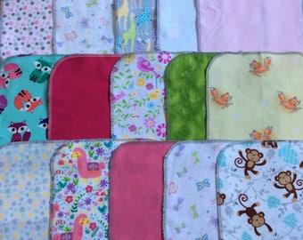 DIAPER WIPES Baby Girl Starter Pack of 30 Flannel