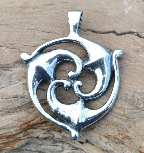 Sterling Celtic Triskele Pendant From Galia Iron Age