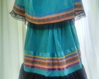 Women's pow wow southeastern tribal-style outfit.