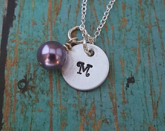 SALE!! Initial Necklace- Personalized Neckace - Bead Necklace- Women's Jewelry- Gift for Girls - Gift for Teens- Gift for Women- Sister Gift