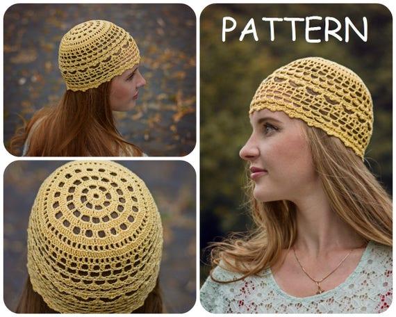 Summer Crochet Beanie Pattern DIY Crochet Hat For Women