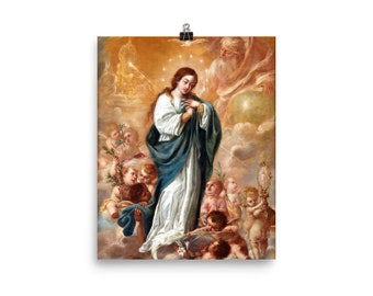 The Immaculate Conception - religious posters - art print - Virgin Mary poster - catholic art - christian wall art
