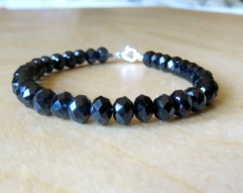 "Bracelet, Black, Silver, Designer, Small Wrist, 6.5"", Swarovski"