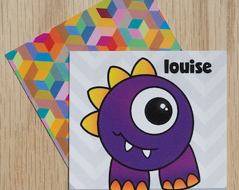 "Replacement Card ""Louise""  — Oh Those Monsters: Memory Game"