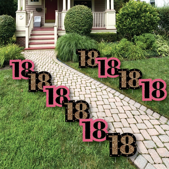 18th Birthday Lawn Decorations Outdoor Birthday Party
