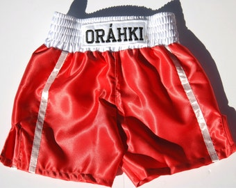 Kids boxing shorts personalized