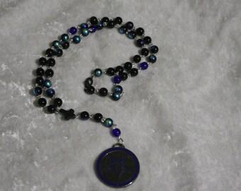 LAST CHANCE! Blue Baphomet Rosary