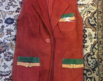 Sassy suede vest of the 1970s