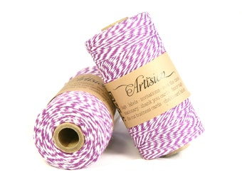 Bakers Twine Purple and white cotton twine 240 yards 4 ply made in USA