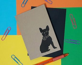 French bulldog blank card | Frenchie card | Frenchie note card | Frenchie stationery | Frenchie in bow