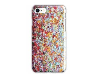 Rainbow Cell Phone Case for iPhone X, iPhone 8, iPhone 7 Case, iPhone 7 8 Plus Case, Colorful Pretty Expressionist Samsung Galaxy S7 S8 Case