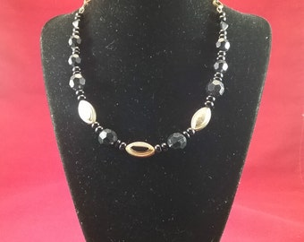 Black and Tan Necklace