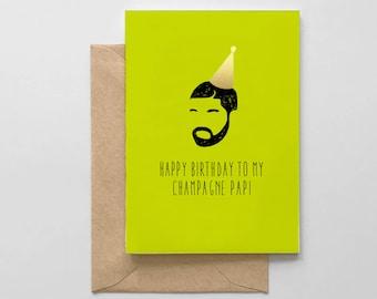 Champagne Papi Card