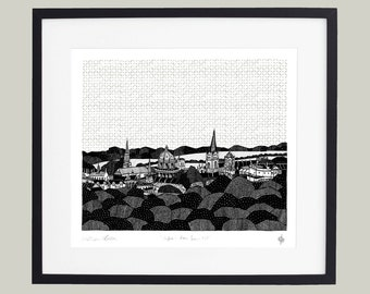 Oxford - From Boars Hill Limited Edition Screen Print