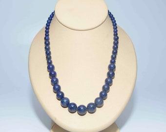 Lapis Necklace/Hand/Knotted Lapis Necklace