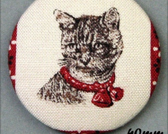 Chic cat - (40-51) - CAT - fabric covered button