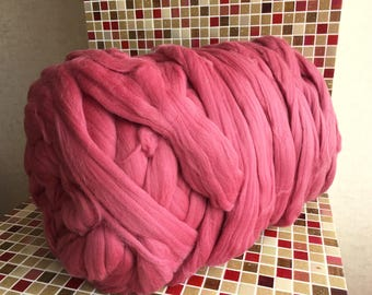 Chunky Wool - Merino Wool Yarn - Super Chunky Yarn - Unspun Yarn - Unspun Wool - Chunky Yarn - Unspun Merino - Super Bulky Yarn
