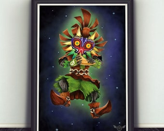 Limited Edition Print - Skull Kid