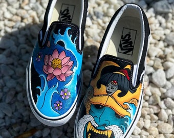 Custom Samurai Vans Slip-On