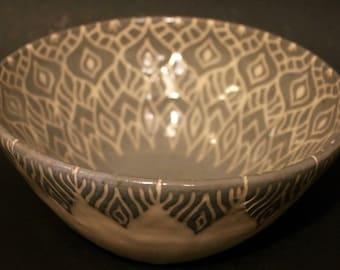 Blue and White Mandala Bowl
