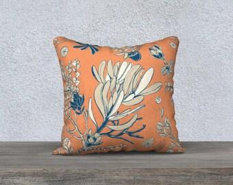 Orange Mountain Flora 18 x 18 Pillowcase