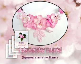 Tutorial.Polymer clay flowers - (Japanese) cherry tree flowers. PDF format.
