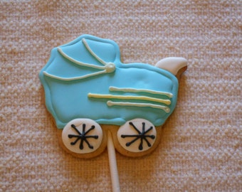 Baby Buggy Sugar Cookie Party Favor - 1 Dozen Party Favors