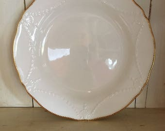 Dinner Plates with Gold Edge - Set of Four