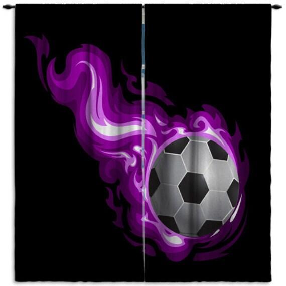 Voetbal gordijnen Kids Windows Configuratiescherm voetbal
