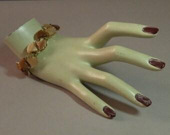 Vintage Bracelet ambre thermoplastique