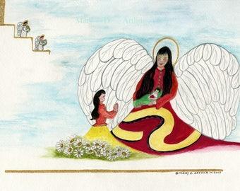 "Baby Deliverance, Birth announment.  11"" x 14"" archival prints."