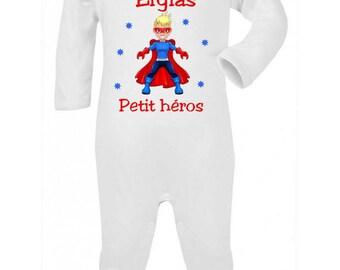 Pajamas baby hero personalized with name