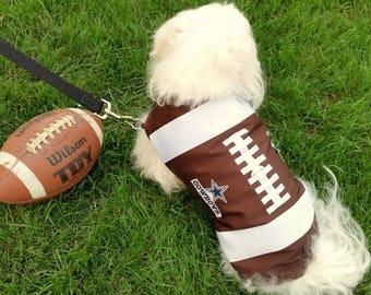 Boy Football Dog Harness Vest, Football Harness,  Brown Dog Harness, Male Dog Harness Vest.