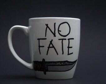 No Fate Coffee Mug, Terminator 2, Sarah Connor, John Connor, Arnold Schwarzenegger, James Cameron, I'll be back, Movie Fan