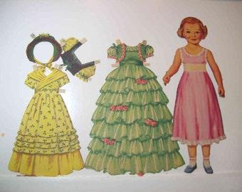 Vintage The Little Fairy Paper Dolls 1951 Merrill Co #1547
