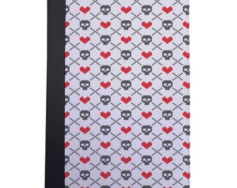 Faux Sweater Skulls & Hearts Pattern Folio Case For The iPad Mini 1, 2, 3 and 4 Only
