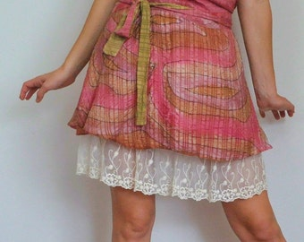 Slip Extender - Ivory Embroidered Lace Trim Slip, Lace Slip Extender, Lace Skirt Extender - XS S M L XL XXL