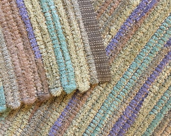 Handwoven Recycled Towels Rag Rug